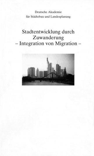 """Cover """"Stadtentwicklung durch Zuwanderung"""""""